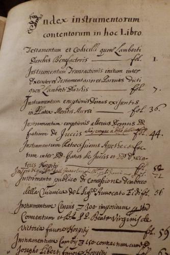 2015 testament Darchis index Rome.JPG